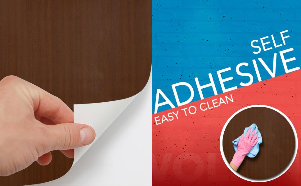 Wall Stickers Wood Wallpaper self adhesive DIY PVC Shelf Liner, Furniture, Almirah, Cupboard decals