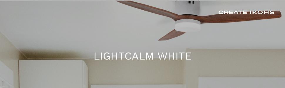 IKOHS LIGHTCALM White - Ventilador de Techo con Luz, Silencioso, 3 ...