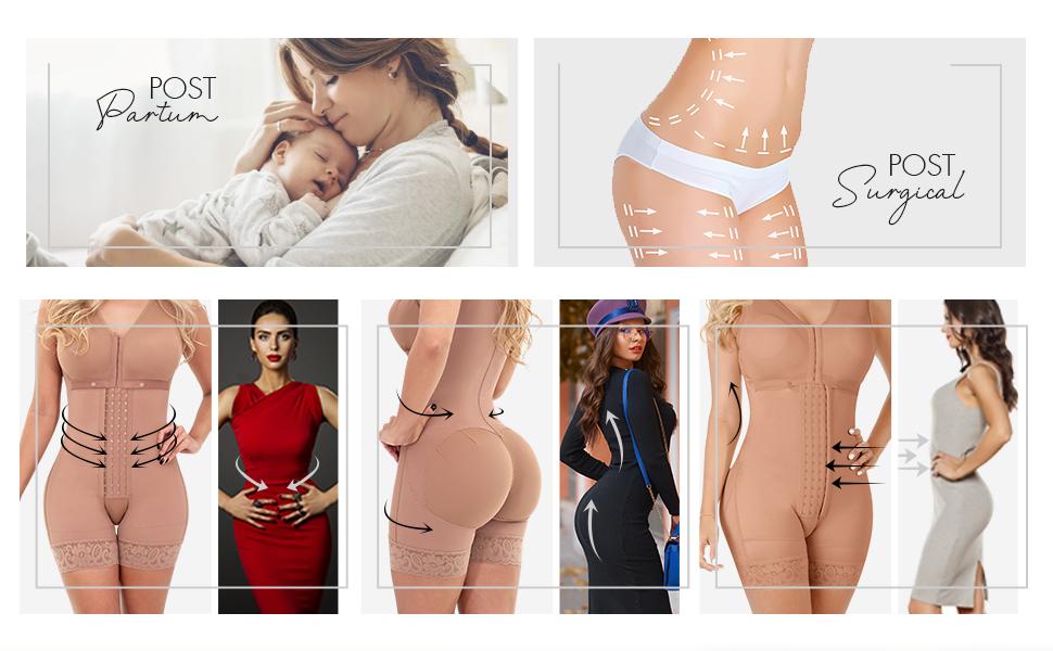 Sonryse086 Fajas Colombianas Postparto Levanta Pompis Bra Shapewear Waist Slimming Girdles for Women