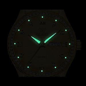 Analog Quartz Watch for Christmas New Year Gifts reloj de oro blanco Reloj de hombre blanco
