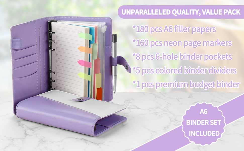 This A6 binder will meet your needs of daily management, recording and storage