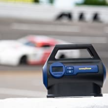 goodyear, racing, tire inflator, air compressor, car, track