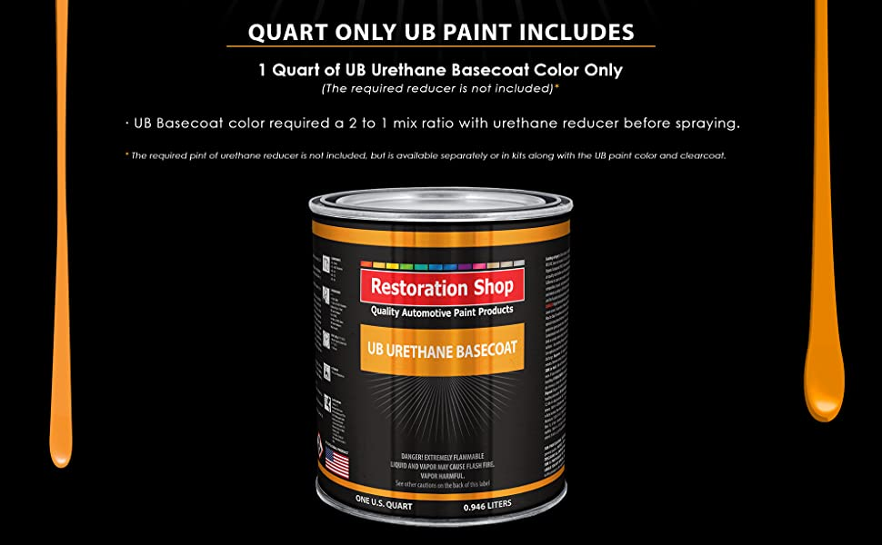 Quart Paint Color Only - Professional High Gloss Automotive, Car, Truck Coating