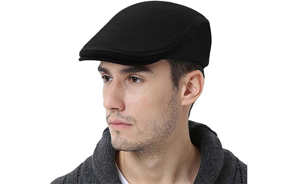 JAOAJ Mens Tartan Flat Cap Duckbill Hat Driving Cap Beret Irish Newsboy Cap Gatsby Ivy Cap,Fit 56-59CM