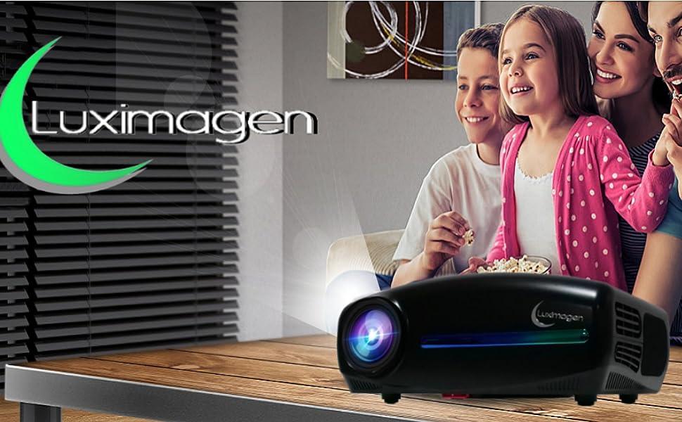 Projektor 1080p, Miniprojektor, Projektor 1080p native Auflösung, LED-Projektor 2000 Lumen