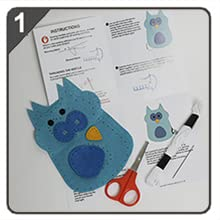 kids craft kits, instructions, sewing kit for kids