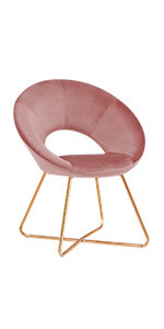 duhome accent chair pink