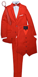 red, suit, boy, boys, unisex, girls, party