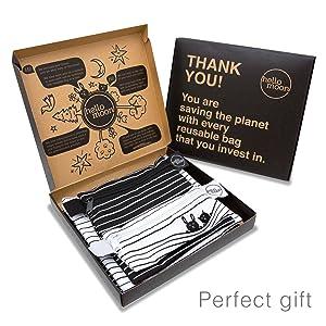 reusable snack sandwich bags food bag dishwasher safe kids adults eco gift box si bolsas de merienda