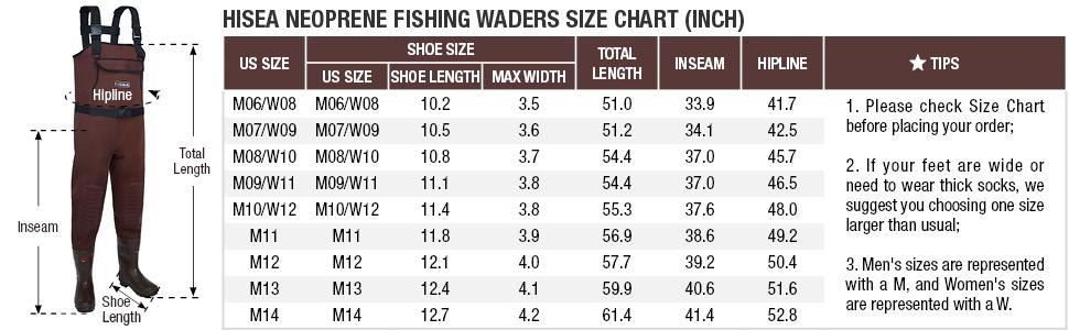 hise chest fishing hunting neoprene waders
