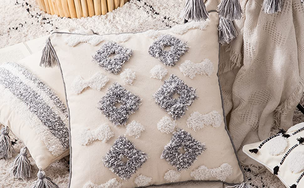 thick fabric great design good quality perfect boho pillow cover warm accent  uncomplicated style