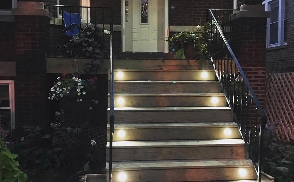 CHNXU LED Bodeneinbaustrahler /Ø45mm 1W Terrassen Einbaustrahler Aussen 12V IP67 Wasserdicht Terrassenstrahler Licht f/ür K/üche Garten Treppen Balkon Terrasse Kaltes Wei/ß