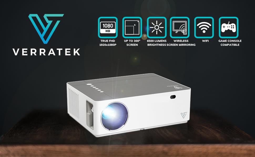 Mini Video Projector wireless screen mirroring hd 1080p verratek vividbeam 550 miracast airplay