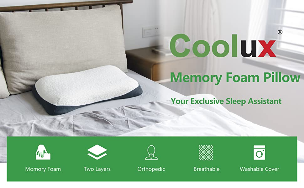 Coolux Memory Foam Pillow