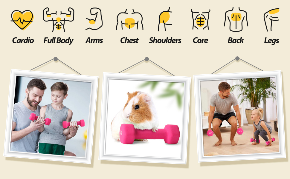 Neoprene Dumbbell for Muscle Toning, Strength Building, Weight Loss Portable Weights for Home Gym