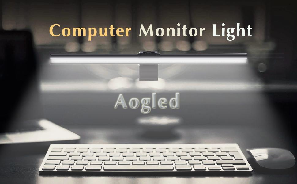 Computer monitor light bar
