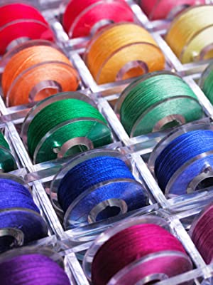Pre-loaded Threaded Plastic Sewing Thread Bobbin Set for Sewing Machiine and Hand Sewing