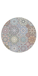 Washable Round Area Rug Foam Mat Living Room
