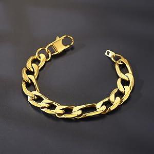 figaro bracelet gold