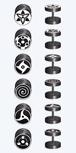 Black Naruto Fake Ear Plugs