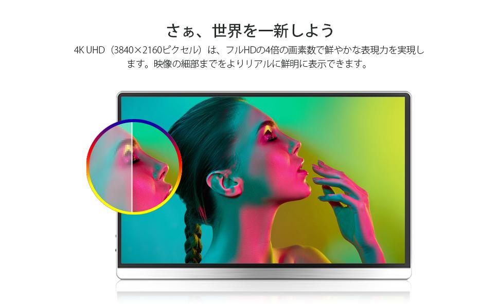 モバイルモニター  4k モバイルディスプレイ 15.6 ゲーム youtube ps4