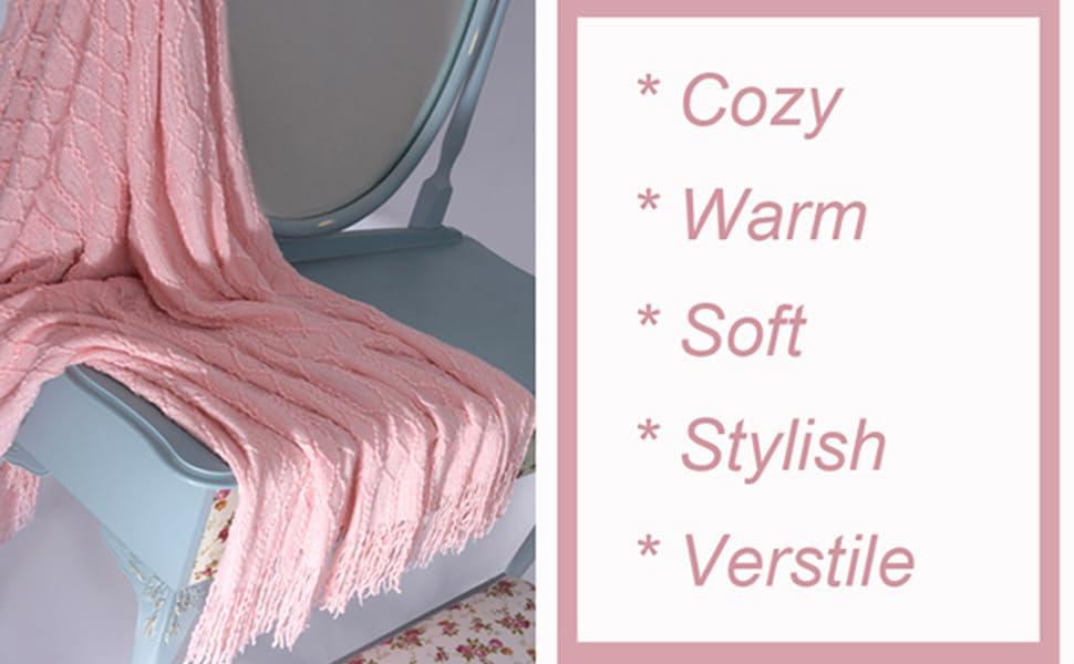 sof cozy warm versatile knitted blanket