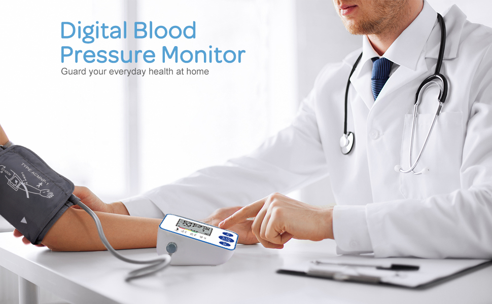 Blood Pressure Monitor  Blood Pressure Monitor, Upper Arm Digital Blood Pressure Monitors Cuff BP Machine Automatic Heart Rate Pulse Monitor with LCD Large Screen Display Home Use Care Device f15c7266 b587 41f1 af95 9c82593f8e08