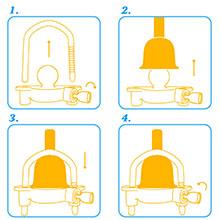 Tevlaphee Coupleur dattelage de remorque /à Boule Verrou de remorquage Installation Facile r/églable Base en Acier Robuste et Alliage daluminium pour Caravane de remorquage Bleu