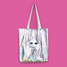 lol surprise silver tote bag