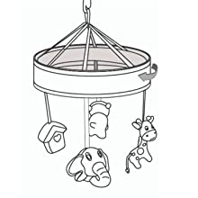 rotating crib mobile