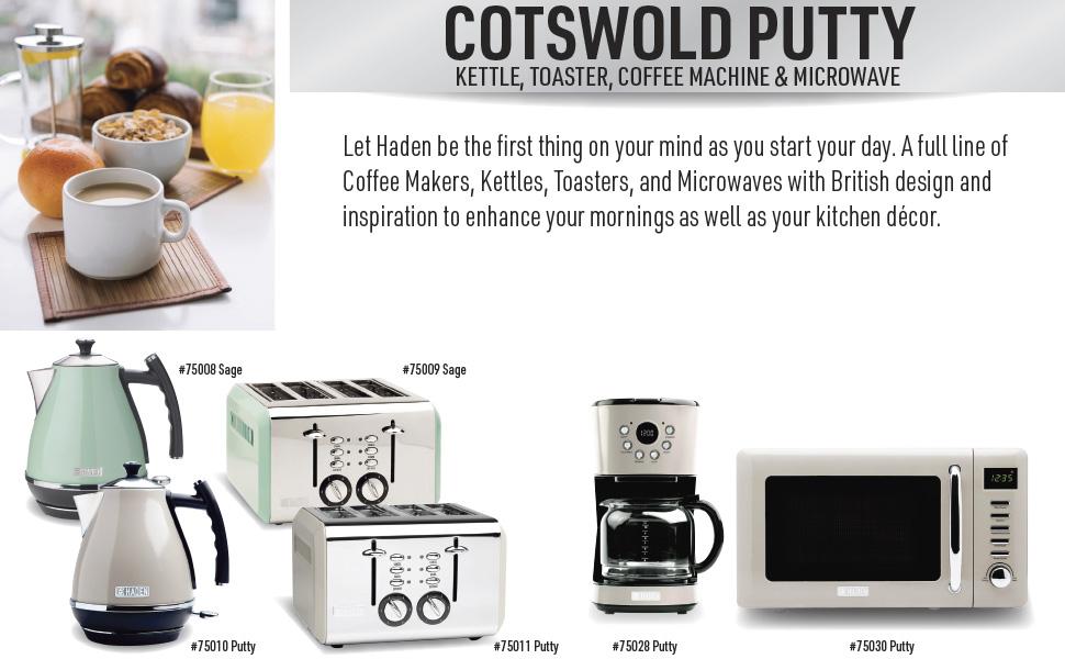 retro electric kettle 75010, retro electric toaster 75011, retro coffee maker, retro microwave