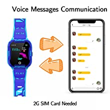 Kids Phone Watch for Boys Girls, Compatible with Android/iPhone iOS voice chat wechat family chat