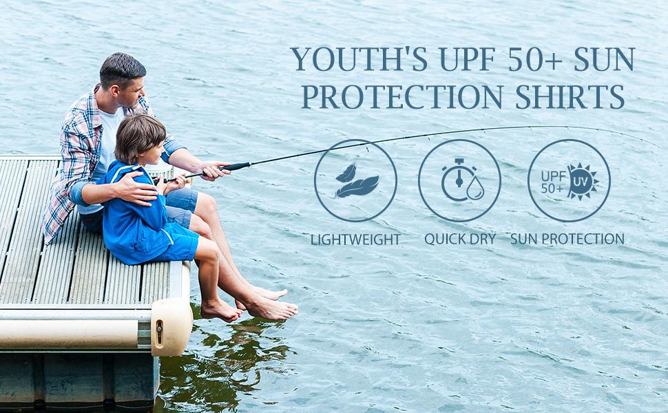Boys UPF 50+ Shirts Sun Protection