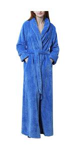 Fleece Plush Bathrobe