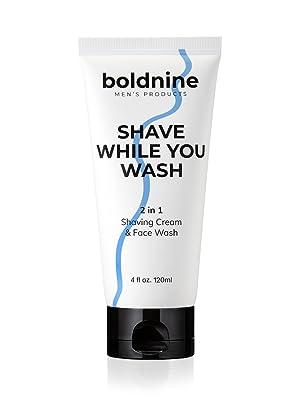 Boldnine best natural foaming face wash and shaving cream for men is good for dry sensitive skin