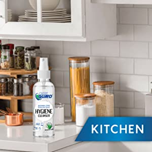 use disinfectant spray in home and kitchen