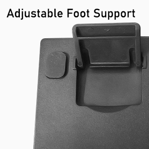 compact keyboard with adjustable foot support