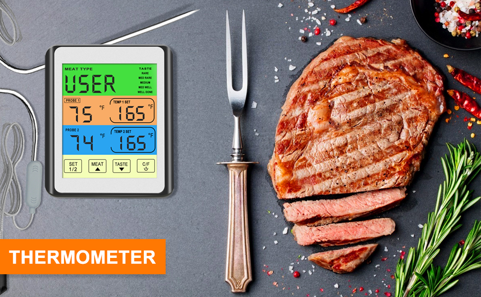 WiFi Grill Thermometer IBBQ-4T, Rechargeable Wireless BBQ Thermometer