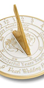 Pearl anniversary sundial