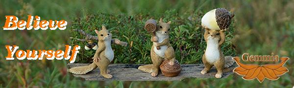Squirrel Figurines