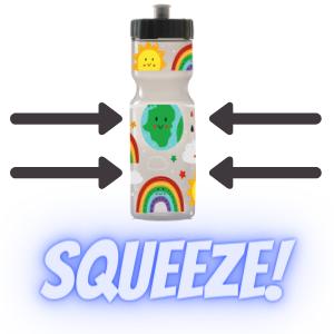 easy to squeeze kids sports water bottle sport bottles squeezable cap school team leakproof boy girl