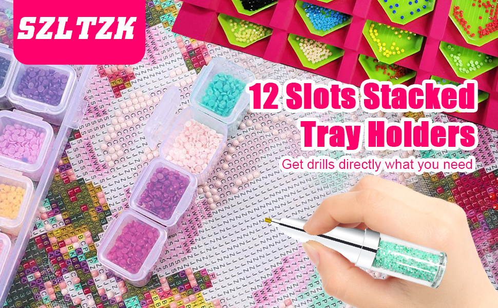 12 slots stacked tray holders can help you get drills directly when needed