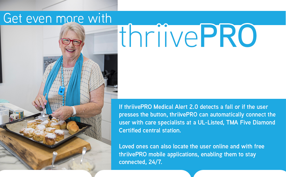 thriivePRO best medical alert in the USA with fall detection and gps tracking