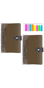 2 Pack 6-Ring Rainbow Soft PVC Binder Cover