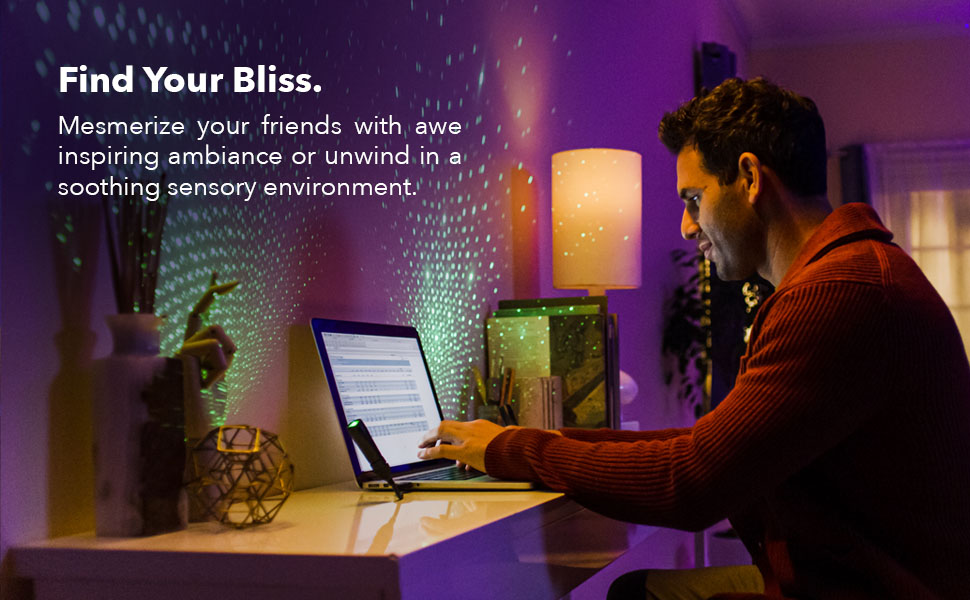 BlissLights Starport USB projector