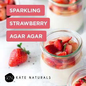 Sparkling Strawberry Agar Agar
