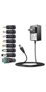 12V 2A dcケーブル チャージャー ルーターacアダプター 充電器 12v プラスラジオ CDプレイヤー コレガ AC充電器 DCアダプター トランジスタラジオ 変換プラグ アダプター