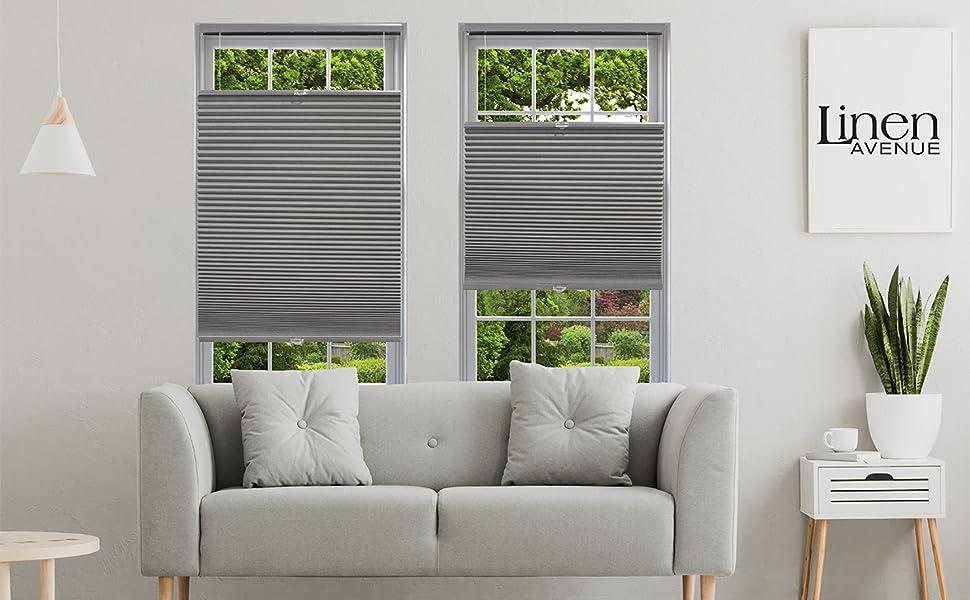 light filtering dark grey cellular shades