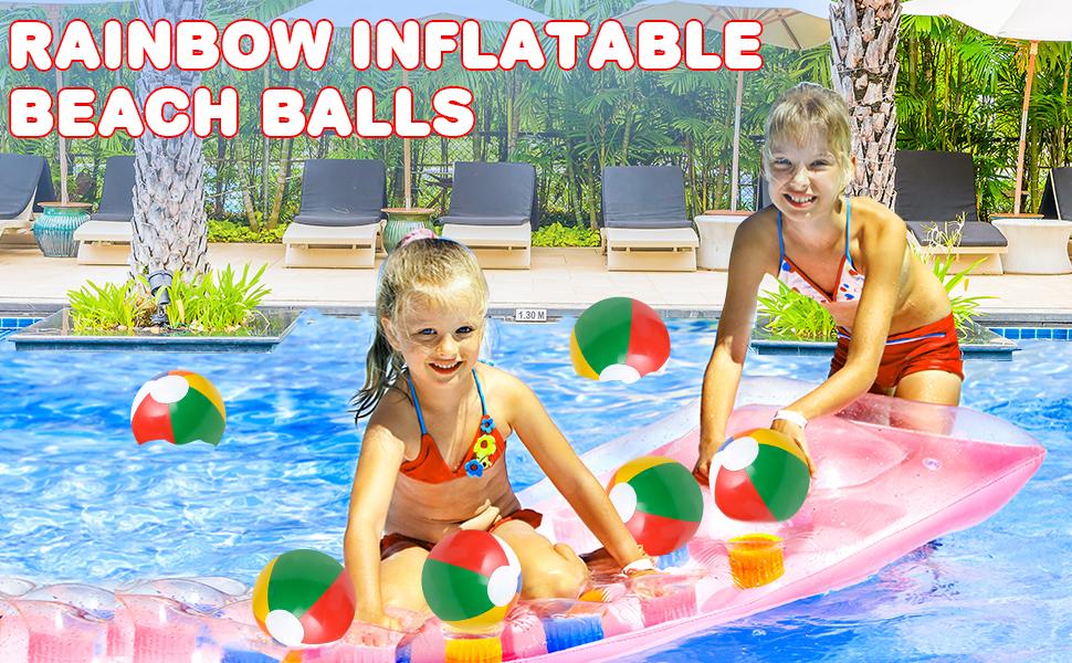Rainbow Inflatable Beach Balls