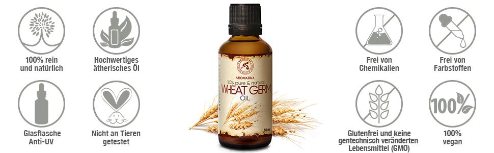 Weizenkeim-öl bio-Weizenkeim-öl nativ kaltgepresst zum  abnehmen organisch zertifiziert Wheatgerm